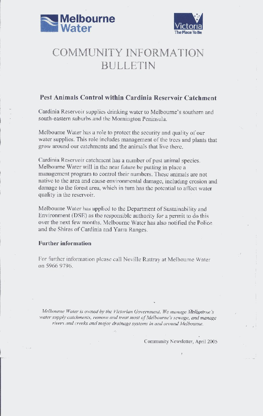 Emus cardinia reservoir save the emus at cardinia reservoir click here to view scanned image of the first communication from melbourne water spiritdancerdesigns Images